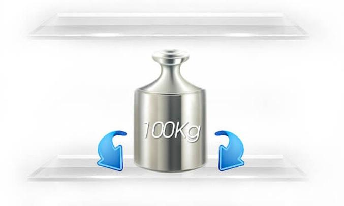 Tủ lạnh Sharp SJ-X176E-DSS có ngăn đựng thực phẩm được làm từ kính chịu lực chắc chắn