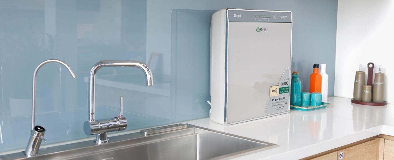 Máy lọc nước RO A.O.Smith 5 lõi K400 v
