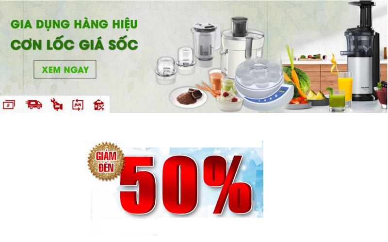 Nhiều mặt hàng gia dụng giảm đến 50%