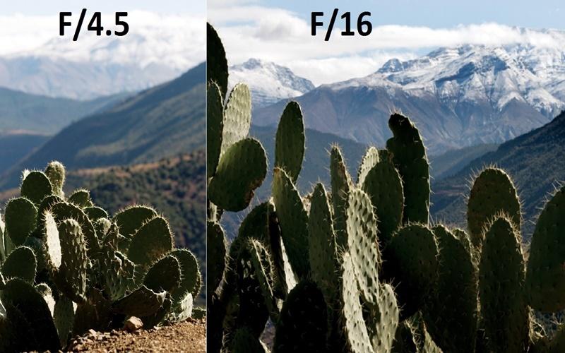 Với chụp phong cảnh thì khẩu độ hẹp sẽ cho hiệu ứng tốt hơn