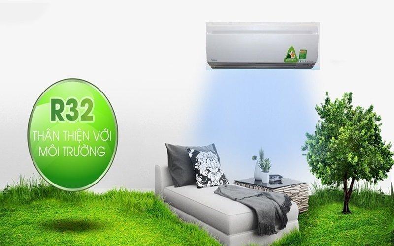Máy lạnh Daikin sử dụng gas R32 thân thiện môi trường
