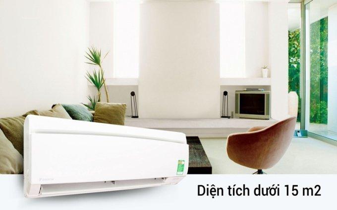 Máy lạnh 1HP phù hợp với căn phòng diện tích dưới 15m2