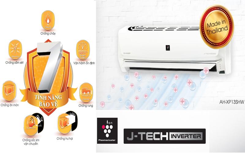 Dòng máy lạnh J-Tech Inverter Sharp 2017