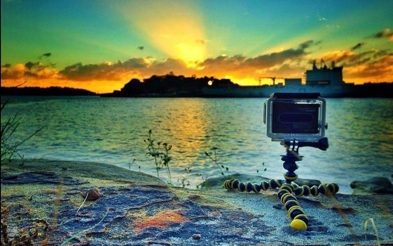 Thực hiện cảnh quay mặt trời lặn với chế độ time lapse