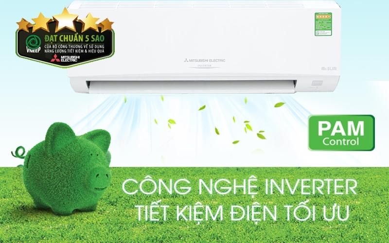 Sở hữu bộ điều khiển PAM, máy lạnh Inverter Mitsubishi càng tiết kiệm thêm tiền sinh hoạt