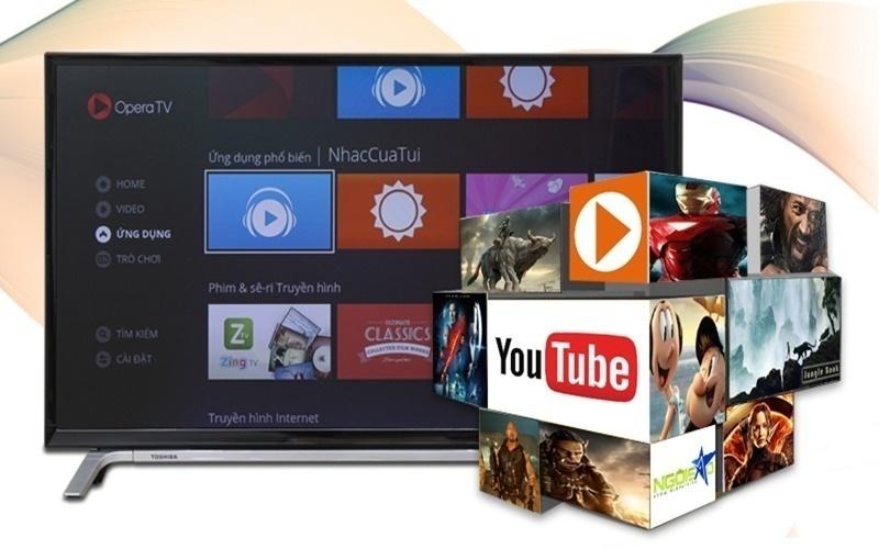 TV Toshiba hỗ trợ nhiều ứng dụng giải trí cho gia đình bạn