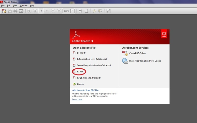Để đọc được các file PDF cần phần mềm hỗ trợ