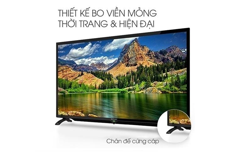 Thiết kế sang trọng của tivi Sharp 32 inch
