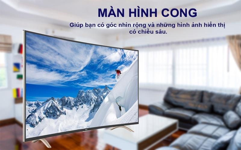 Tivi màn hình cong TCL góc xem thoải mái