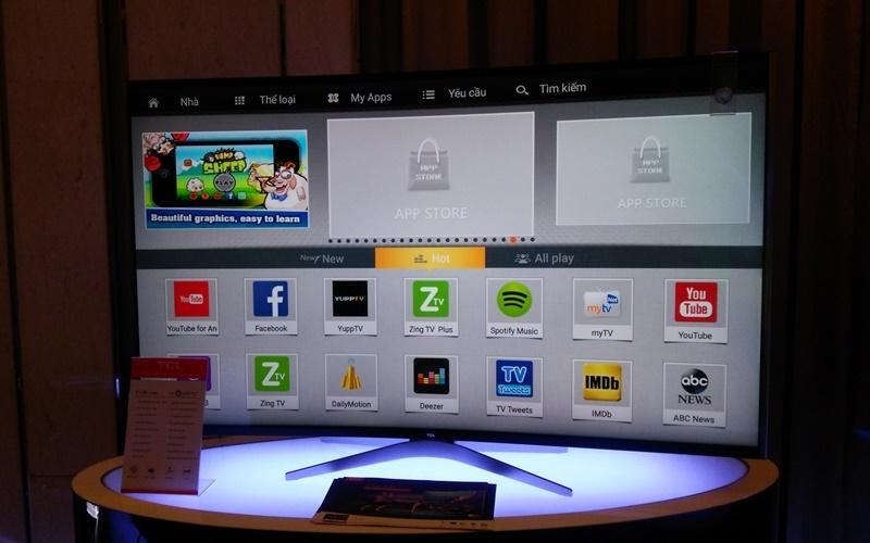 Hệ điều hành Android 5.1 được tích hợp sẵn trên tivi