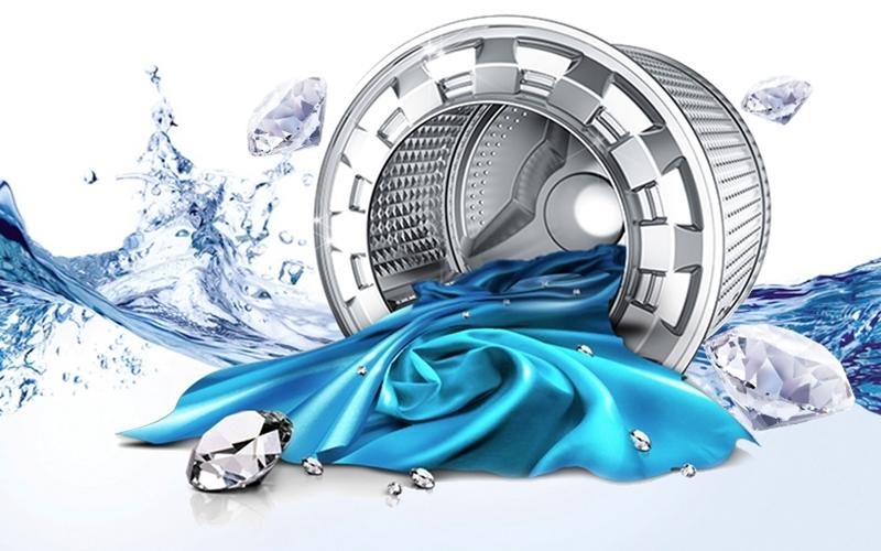 Lồng giặt kim cương giúp máy luôn bền bỉ và mạnh mẽ