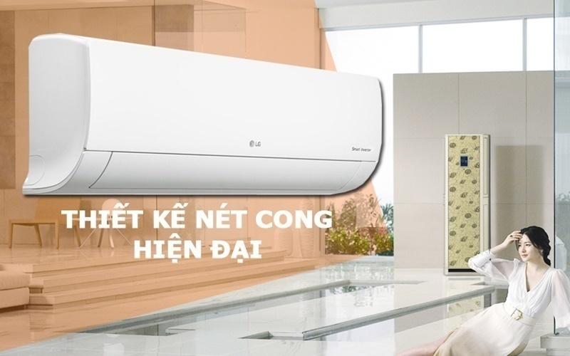 Với thiết kế cong mềm mại máy lạnh thu hút mọi ánh nhìn