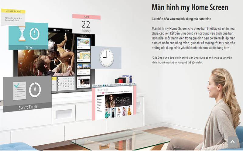 Cá nhân hóa với màn hình My home screen