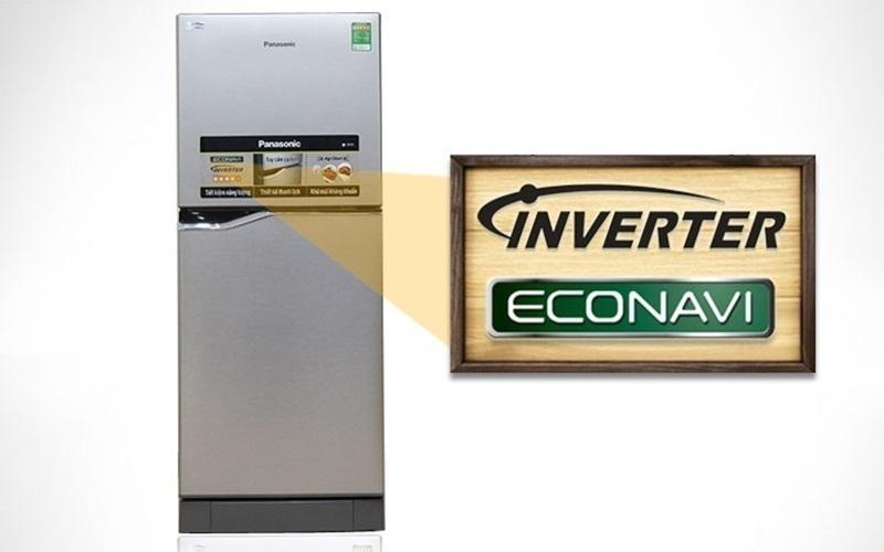 Tủ lạnh Panasonic NR-BJ158SSVN tích hợp công nghệ tiên tiến Inverter và Econavi mà giá cả hợp túi tiền sinh viên