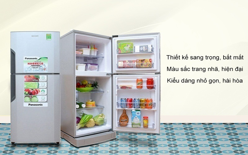 Tủ lạnh Panasonic với thiết kế trang nhã, nhưng bắt mắt phù hợp với mọi không gian