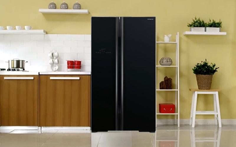 Nội thất gian bếp thêm hiện đại với tủ lạnh side by side Hitachi