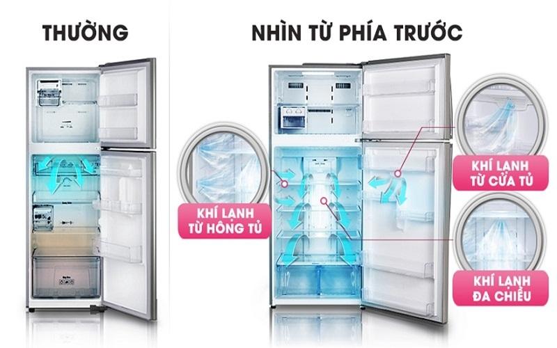 Sự khác biệt của tủ lạnh thường và tủ lạnh có công nghệ làm lạnh đa chiều