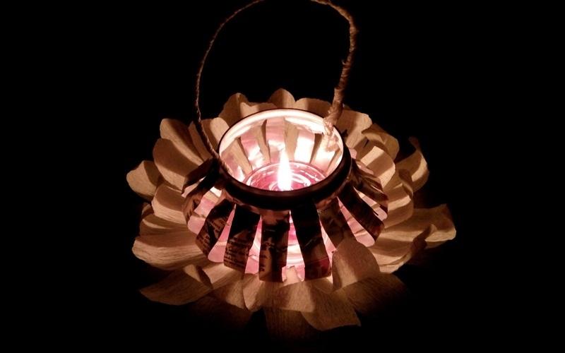 Lồng đèn tự làm vừa xinh vừa tiện lợi
