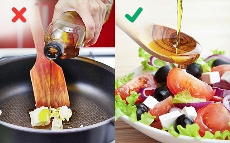 Hãy dùng dầu oliu đúng cách để món ăn ngon hơn