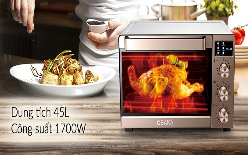 Công suất của lò nướng hơn hẳn lò vi sóng