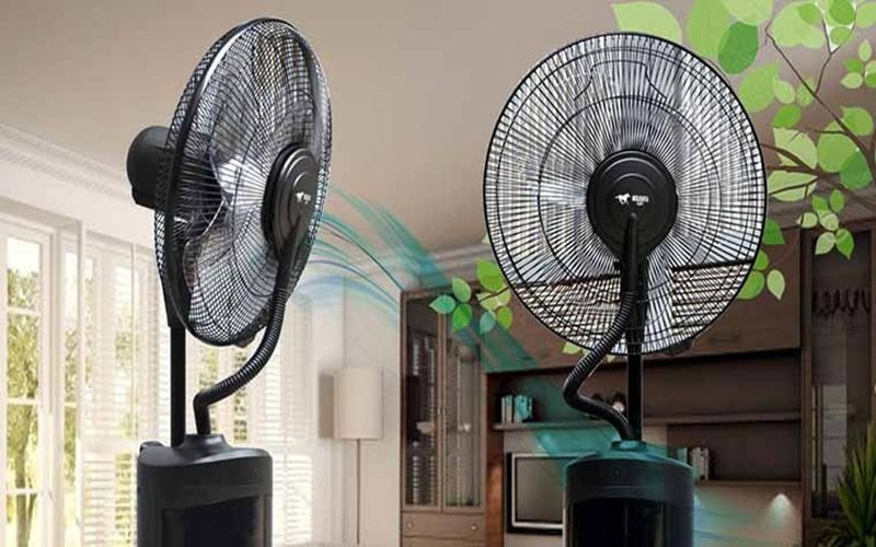 Quạt mang đến một bầu không khí mát lạnh, cung cấp đủ độ ẩm trong những ngày nóng