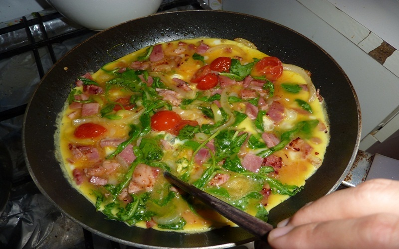 Món pizza trứng made in by me ngon lành