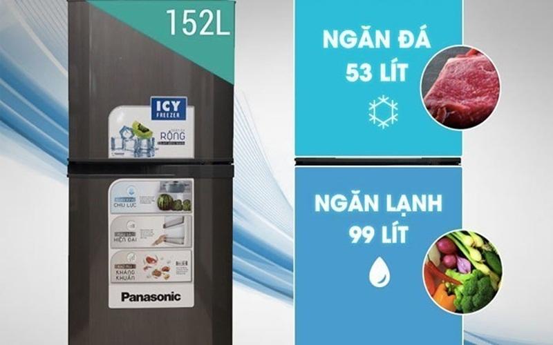 Với thiết kế gọn nhẹ, dung tích hợp lý chỉ có thể là tủ lạnh Panasonic