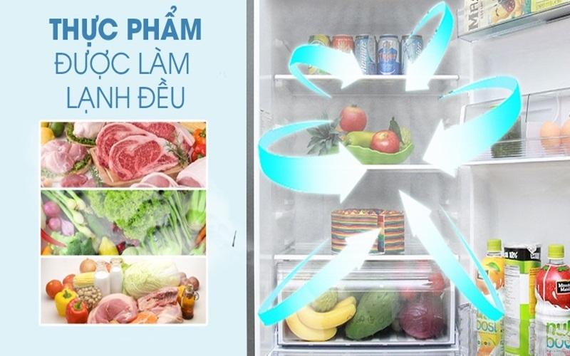 Thực phẩm được bảo quản rất tốt trên tủ lạnh Panasonic