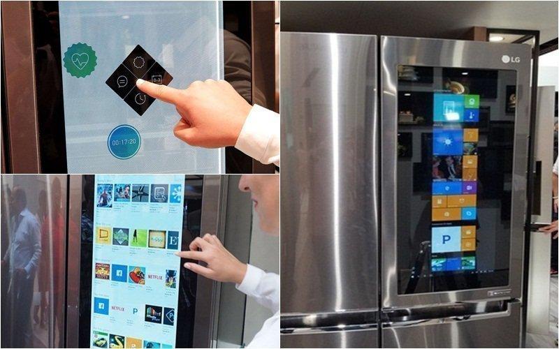 Hệ điều hành Windows 10 được tích hợp lên tủ lạnh LG Smart InstaView Door-in-Door