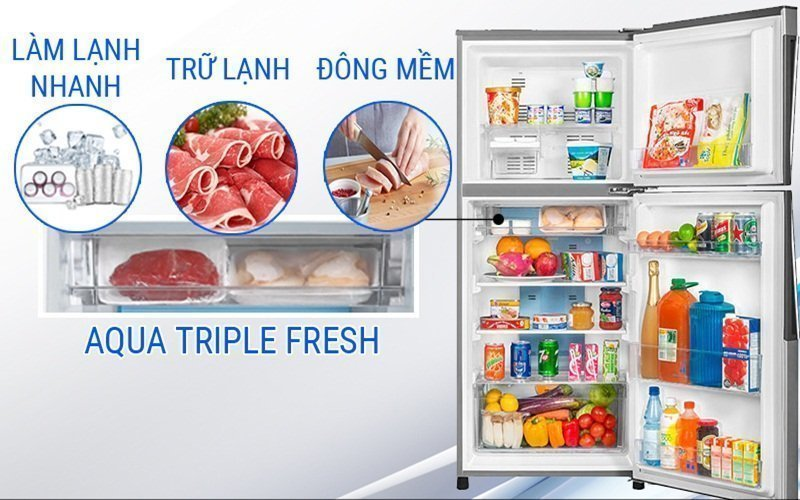 Tủ lạnh Aqua dung tích lớn là sự lựa chọn tuyệt vời cho gia đình bạn