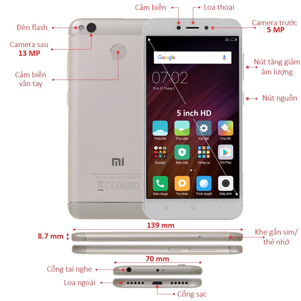 Xiaomi Redmi 4X Vang Chinh Hang Gia Tot