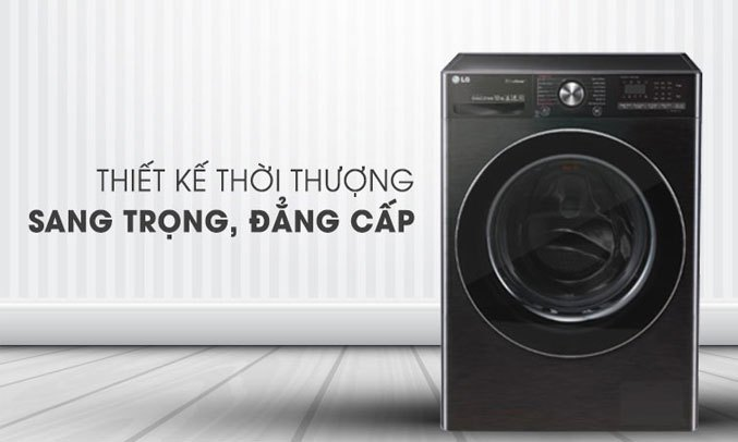 Máy giặt sấy LG Inverter 10.5 kg FV1450H2B thiết kế thanh lịch