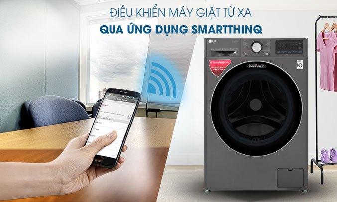 Máy giặt sấy LG Inverter 10.5 kg FV1450H2B tiện ích thông minh