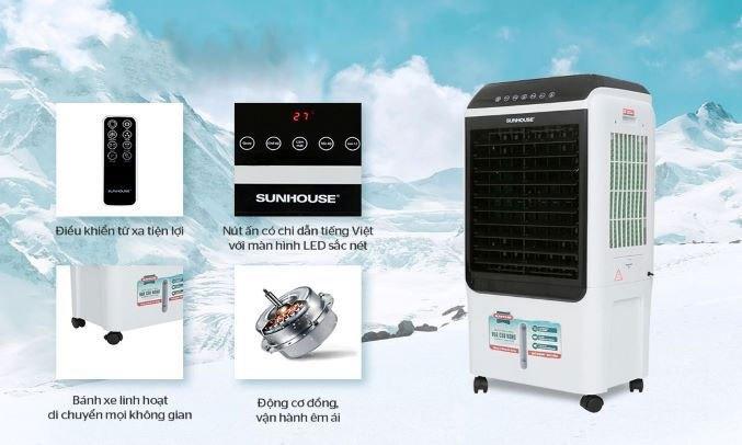Quạt điều hòa Sunhouse SHD7727 Bảng điều khiển cảm ứng dễ điều khiển