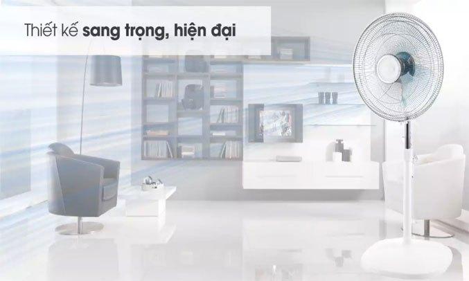 Quạt đứng Asia D16027-TV0 Trắng Kiểu dáng đơn giản, tiện ích