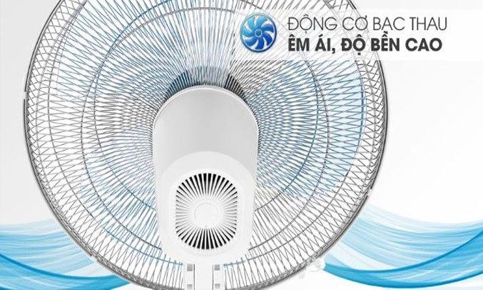 Quạt đứng Asia D16028-TV0 Trắng Động cơ bạc thau hoạt động êm ái, bền bỉ