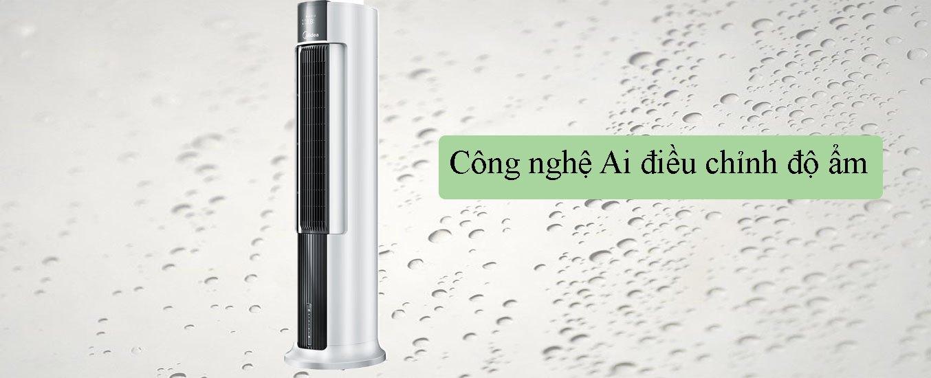 Quạt điều hòa Midea AC120-18AR Công nghệ Ai điều chỉnh độ ẩm
