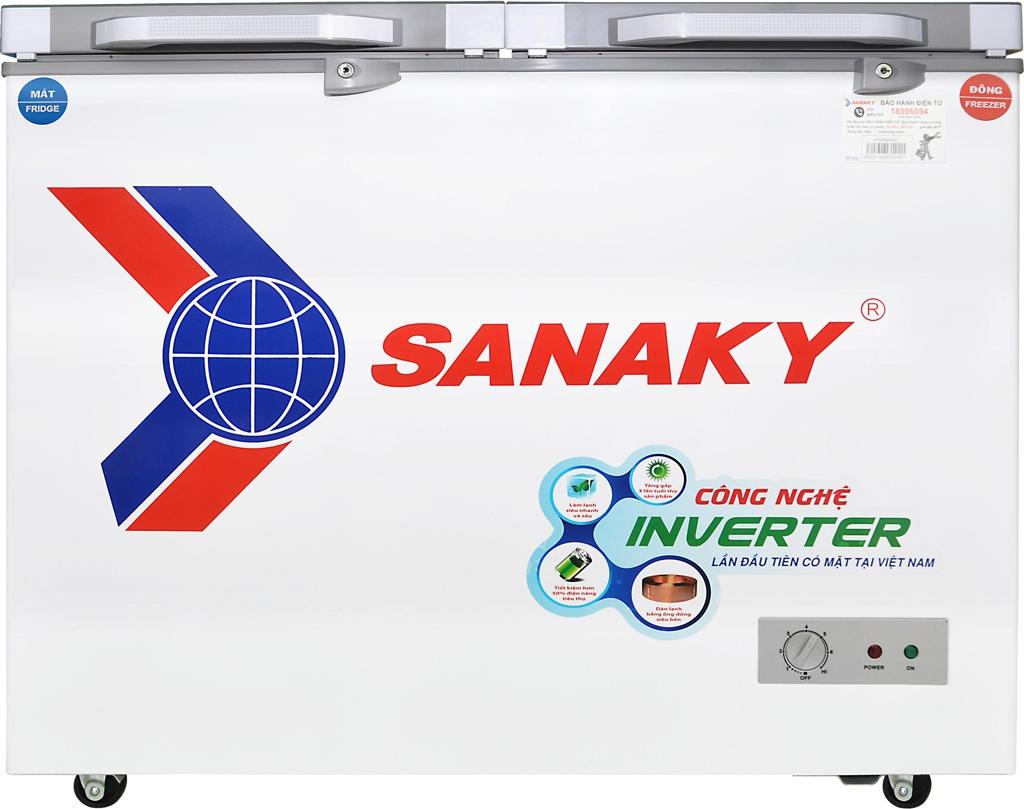Tủ đông Sanaky Inverter 220 lít VH-2899W4K thiết kế chất lượng