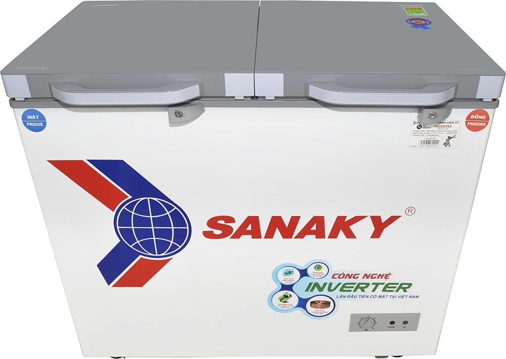 c Tủ đông Sanaky Inverter 220 lít VH-2899W4K ông nghệ inverter tiên tiến