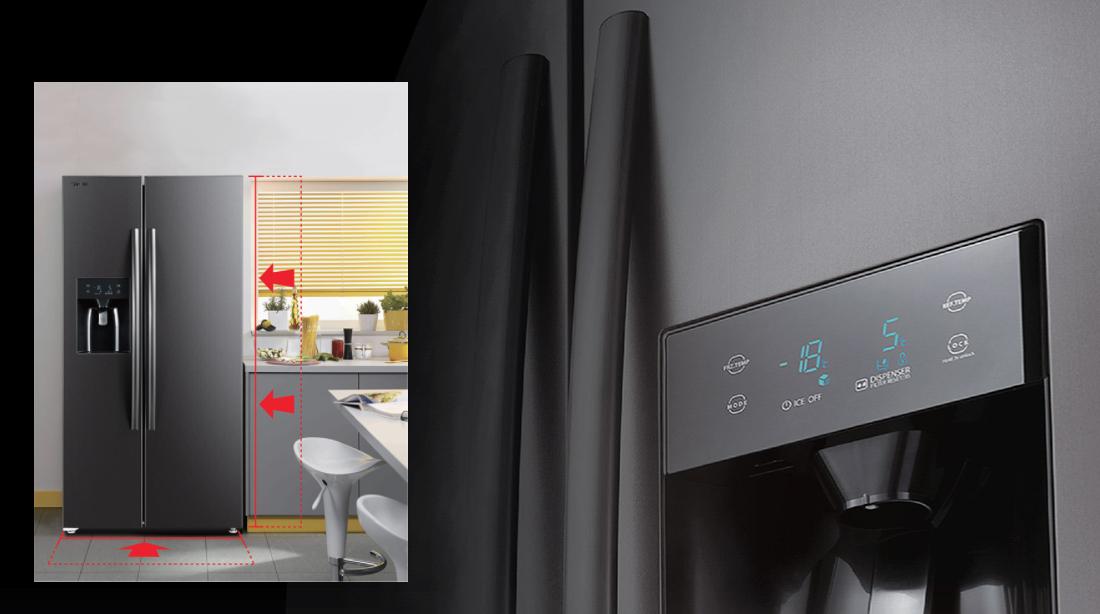 Tủ lạnh Toshiba Inverter 493 Lít GR-RS637WE-PMV(06) - Bảng điều khiển cảm ứng, thao tác dễ dàng