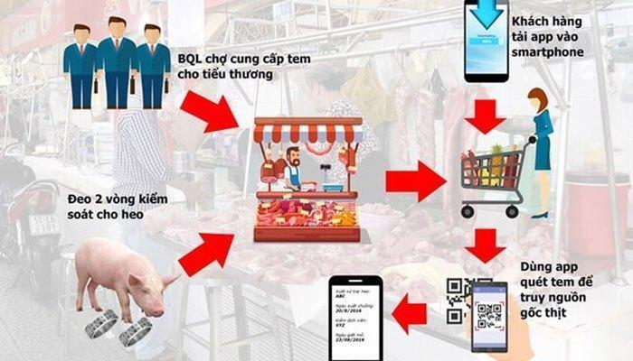 Quy trình thực hiện để ứng dụng trên điện thoại có thông tin nhận diện