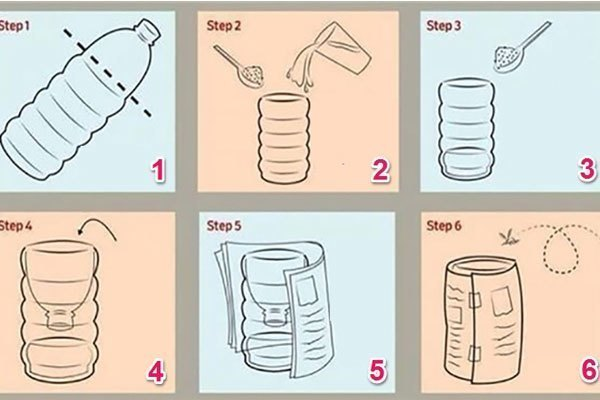 Các bước tự chế công cụ bắt muỗi