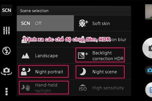 Chọn chế độ HDR sẽ làm giảm tốc độ chụp ảnh trên điện thoại