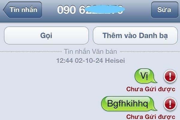 Tin nhắn không gửi được qua các điện thoại của hãng khác ngoài iPhone