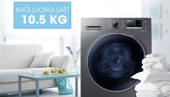 Máy giặt sấy Samsung WD10J6410AX với thiết kế hiện đại cùng nhiều tính năng ưu việt sẽ không làm bạn thất vọng