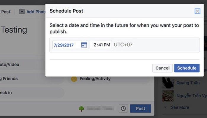Việc lên lịch sẵn cho bài viết trên Facebook sẽ giúp bạn không phải lúc nào cũng canh chừng điện thoại nữa