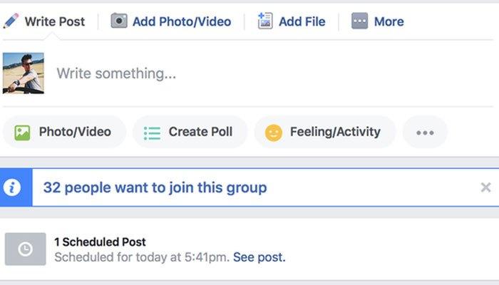 Những bài được đặt lịch đăng trên Facebook cũng sẽ hiện lên khi bạn hoàn thành xong