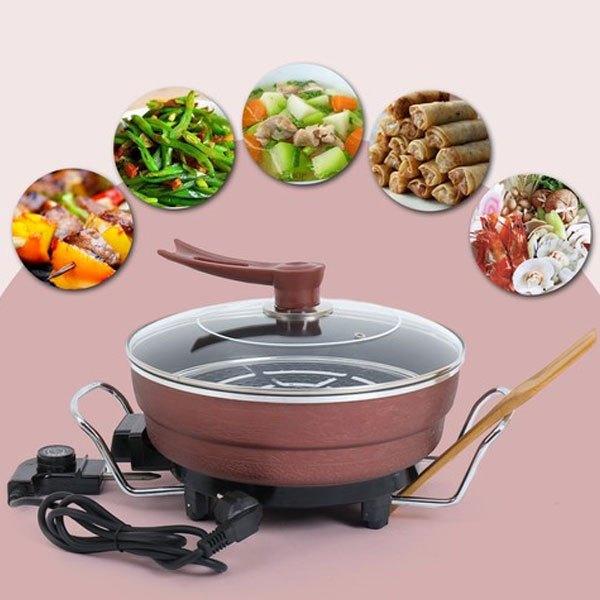 Lẩu điện đa năng có thể nấu mọi món ăn nhanh chóng