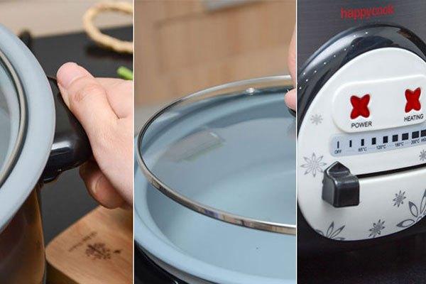Nồi lẩu điện có thiết kế thông minh, thuận tiện khi nấu ăn