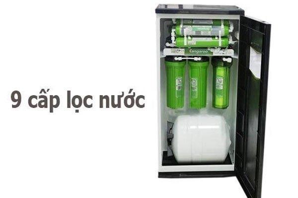Xử lý nước trước khi pha cà phê bằng máy lọc nước Kangaroo KG 110VTU 9 cấp độ lọc